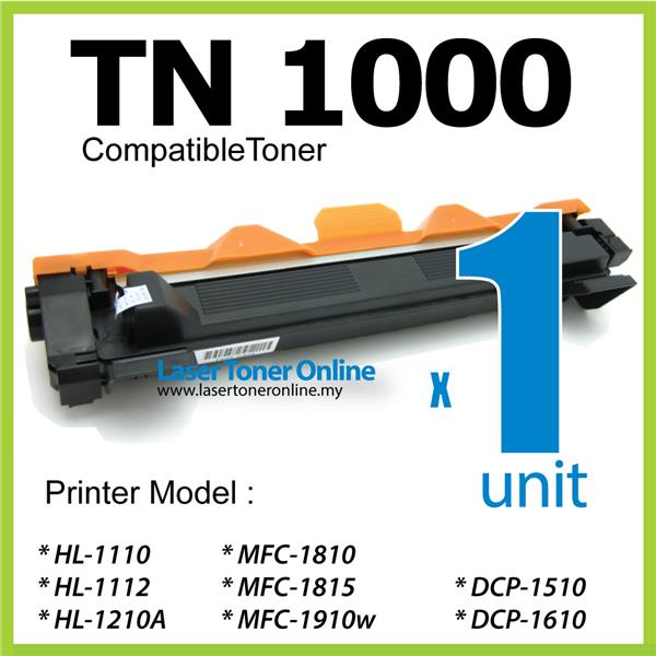 TN 1000 TN1000 Compatible Brother HL1110 DCP1510 DCP1610w MFC1810 1110