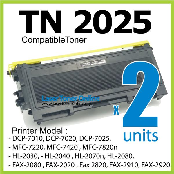TN-2025 Compatible Brother MFC 7220 7420 7820n HL 2040 2070n FAX 2820