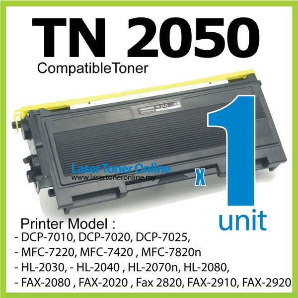 TN-2050 Compatible Brother TN2050 HL 2030 2080 Fax-2080 2020 2910 2920