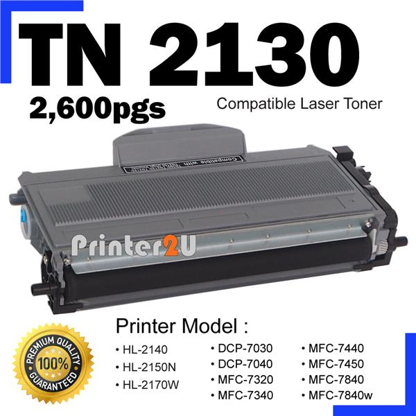 TN 2130 Compatible Brother HL 2150N 2170w MFC7340 MFC7440 MFC7450