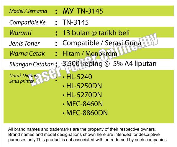 TN-3145 Compatible Brother TN3145 HL-5240/5250DN/HL5240/HL5250DN Laser