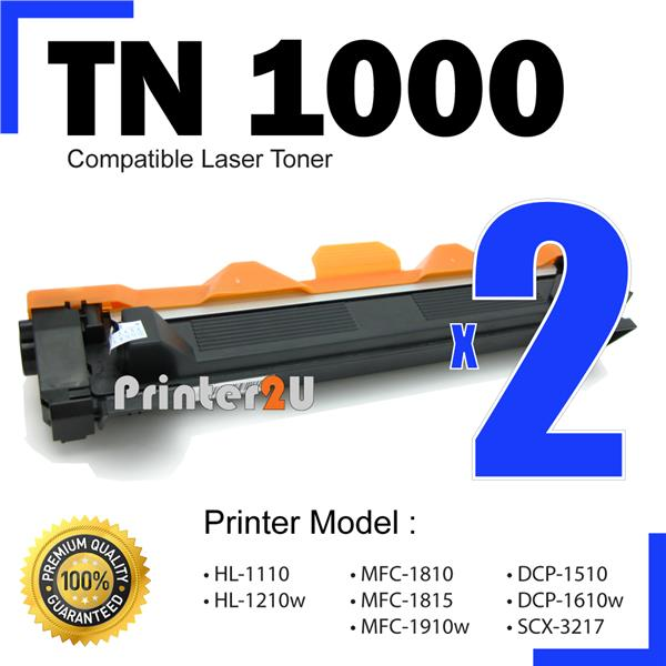 TN1000/TN 1000 Compatible Brother HL1110 DCP1510 DCP1610w MFC1810 B