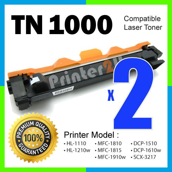 TN1000/TN 1000 Compatible Brother MFC 1815 1910W MFC1815 MFC1910W/BK