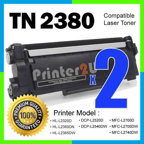 TN2380 Compatible-Brother DCP-L2500D L2520D L2540DW MFC L2700D L2740DW