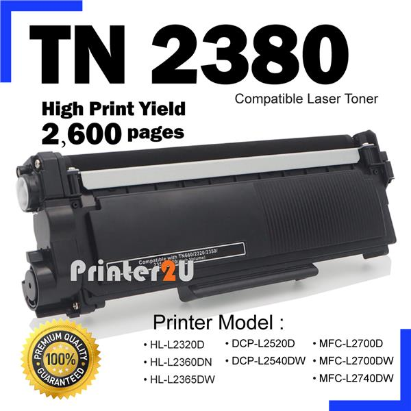 TN2380 Compatible Brother HL-2300 2360 MFC L2700D L2700DW L2740 2740DW