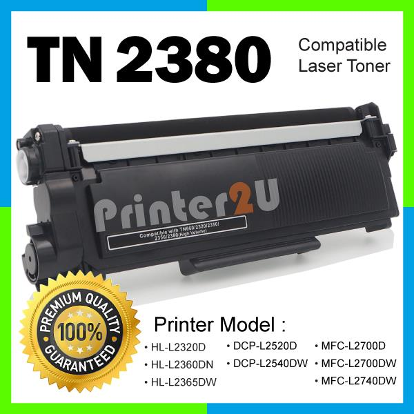 TN2380/TN 2380 Compatible Brother HL-L2300D L2320D L2360DN L2365DW