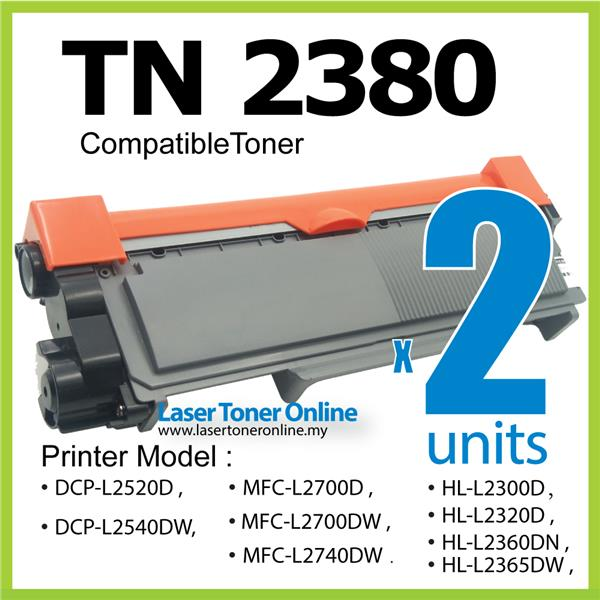 TN2380 TN 2380 Compatible Brother HL-L2320D L2360DN L2360DW L2365dw