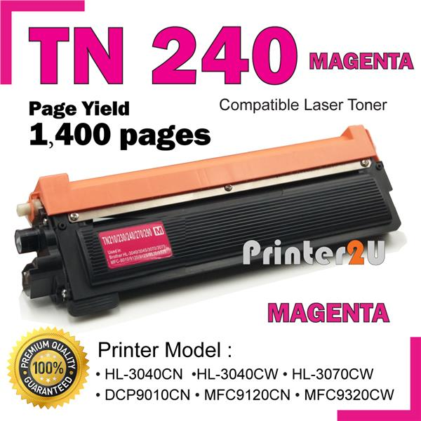 TN240 Compatible Brother DCP-9010CN HL 3040CN 3045CN 3070CW 3075CW MG