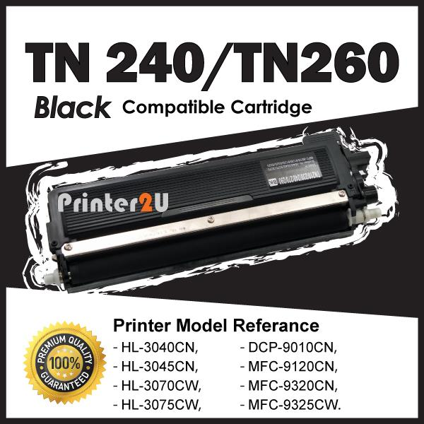 TN240 Compatible Brother DCP9010CN HL 3040 3045 3070 3075 HL3040 Black