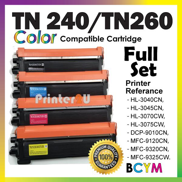 TN240 Compatible Brother HL3040CN HL3045CN HL3070CW HL3075CW Full Set