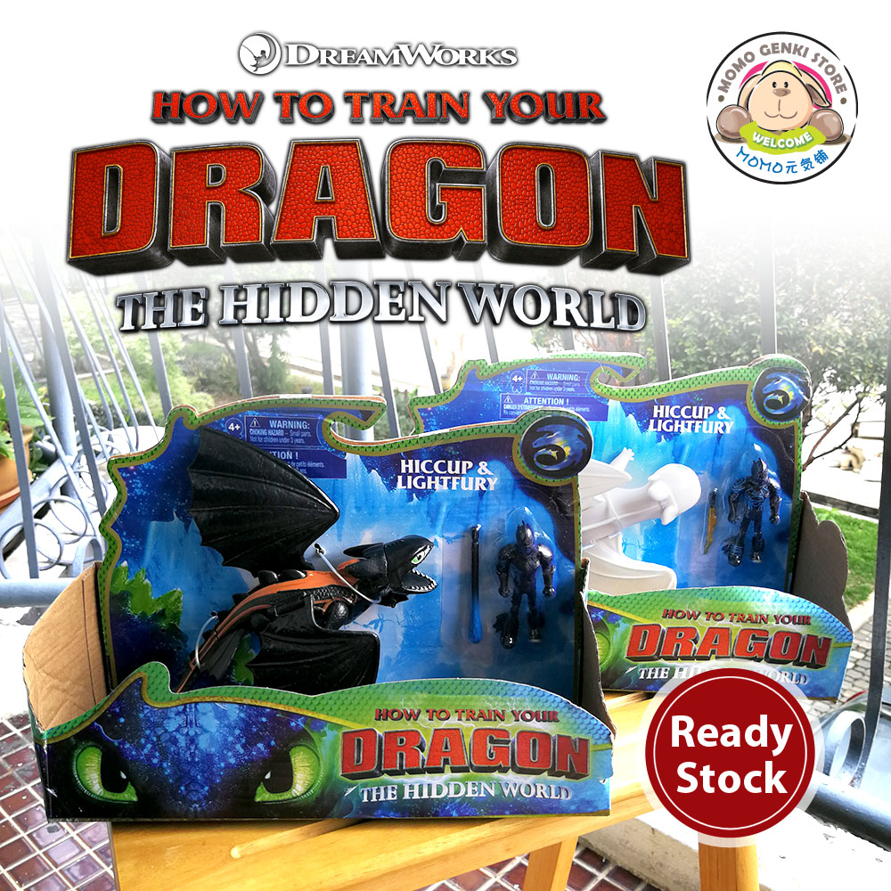 How to Train Your Dragon 3 Hiccup Toothless Light Fury Figure Toy Doll
