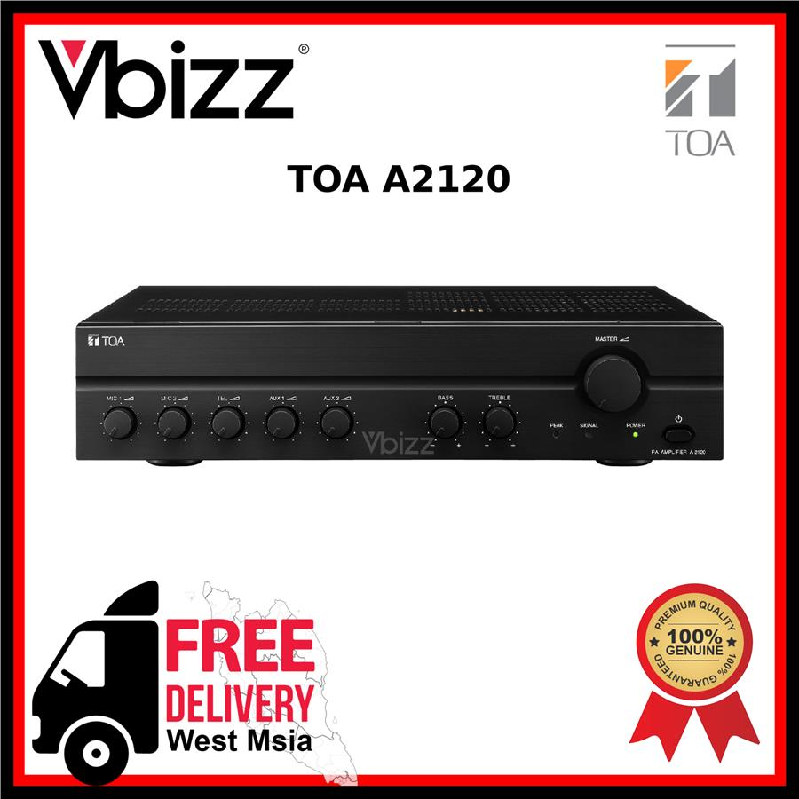 TOA A2120 *FREE DELIVERY* 120W Mixer Amplifier