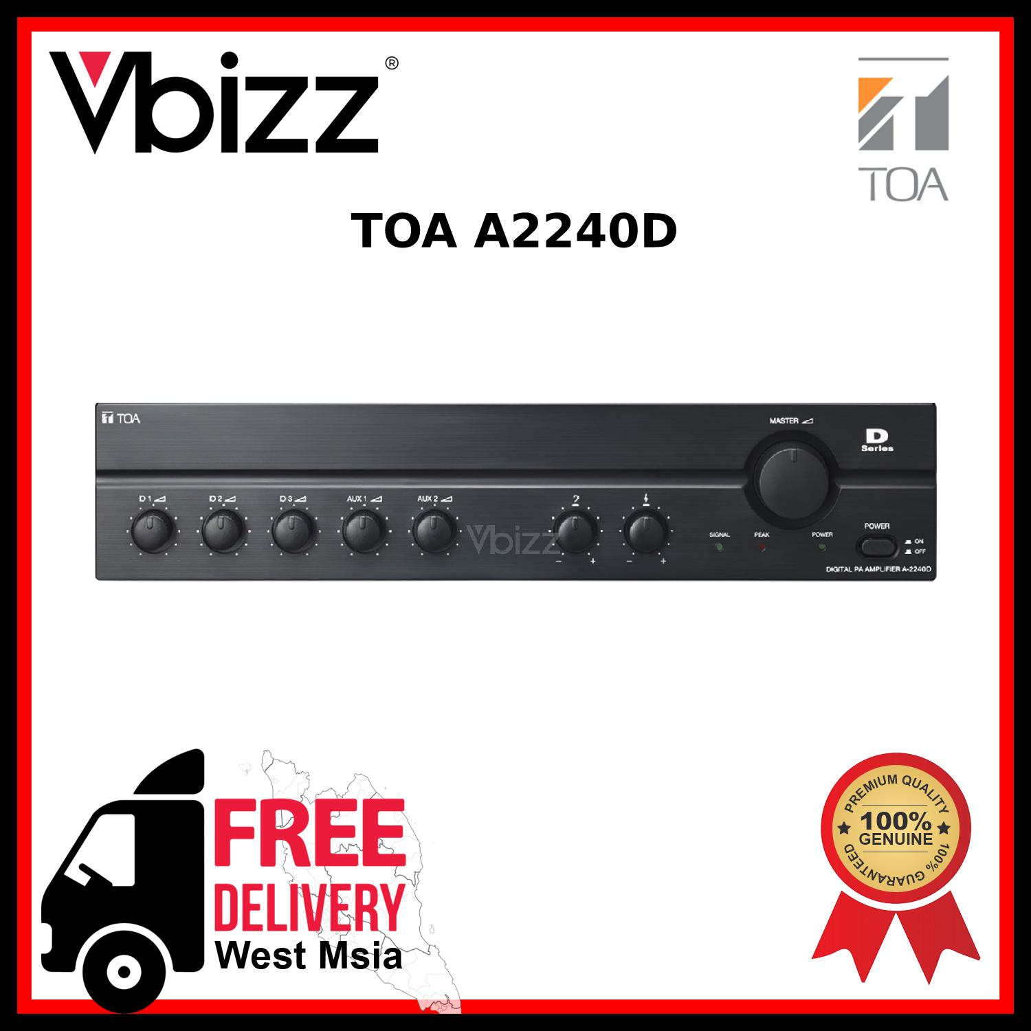 TOA A2240D *FREE DELIVERY* 240W Digital Mixer Amplifier