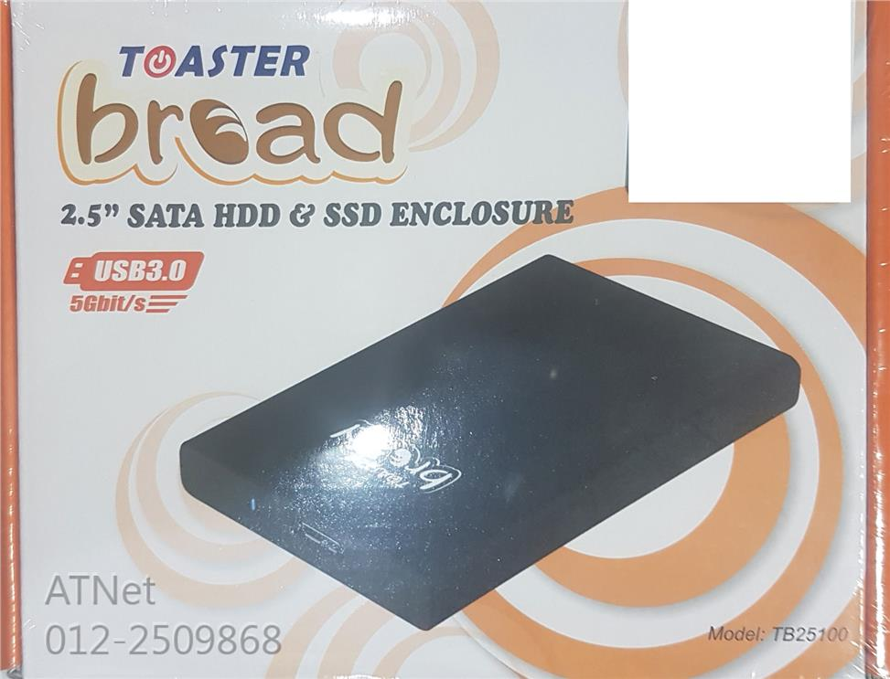 TOASTER BREAD 2.5' SATA HDD & SSD ENCLOSURE (TB25100)