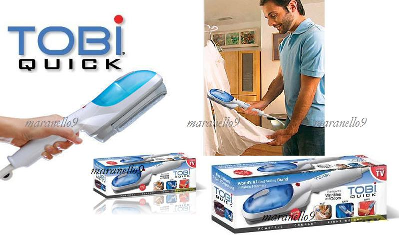TOBI Multifunction Portable Dry Cleaning Steam Brush,Cleaning Brush