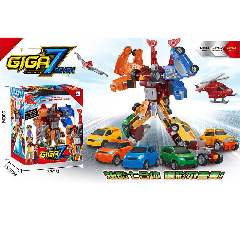 TOBOT Giga seven 7 CARS Transformer Toy 7in1 Giga Robot Toys 30cm