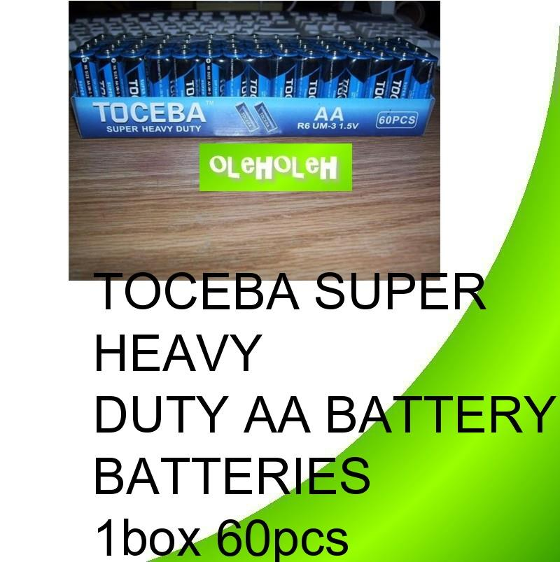 *Toceba Super Heavy Duty AA Battery Batteries 1box 60pcs