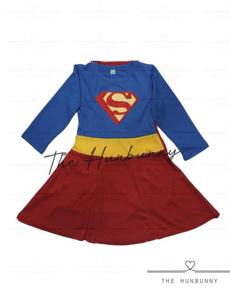 Toddler Girls Super Girl Superhero Halloween Party Costume
