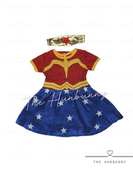 Toddler Girls Wonder Woman Superhero Halloween Party Costume