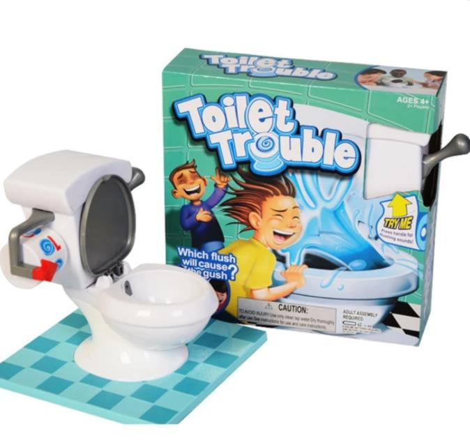 Toilet Trouble Roulette with Flush Sound Effect Family Party Game Kid