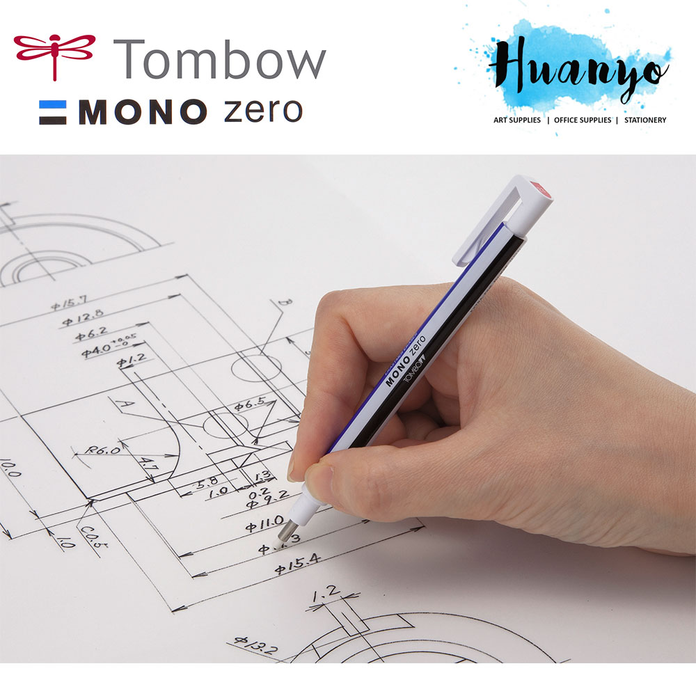 Tombow MONO Zero Retractable Elastomer Eraser Pen (Round Tip)