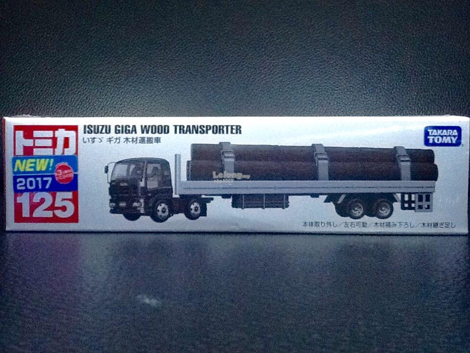 Tomica No. 125: Isuzu Giga Wood Transporter (First Batch)