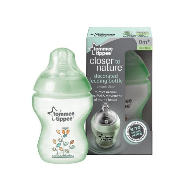 TOMMEE TIPPEE Closer to Nature 260ml/9oz Green BPA Free Bottle