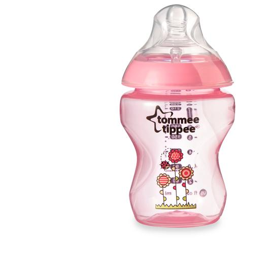 Tommee Tippee Closer To Nature Decorated Feeding Bottle 260ml9oz 0m