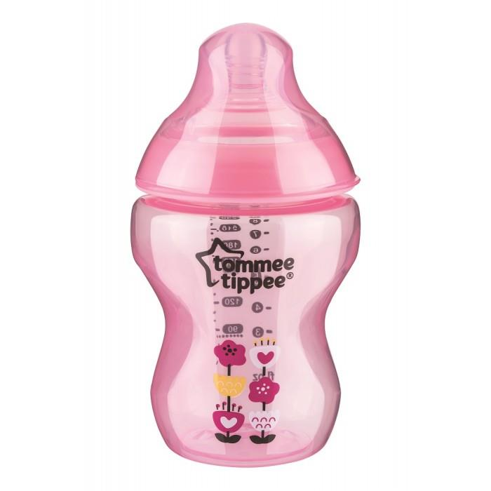 Tommee Tippee:Closer to Nature Decorated Feeding Bottle 260ml/9oz(Pink