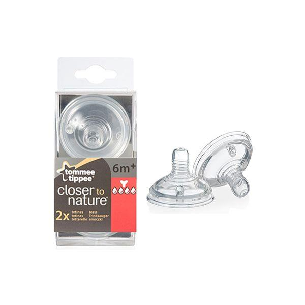 Tommee Tippee:Closer To Nature Teat - Y Flow (2pcs)