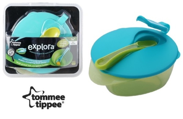 Tommee Tippee Explora Easy Scoop Feeding Bowl Lid and Spoon Colours May Vary