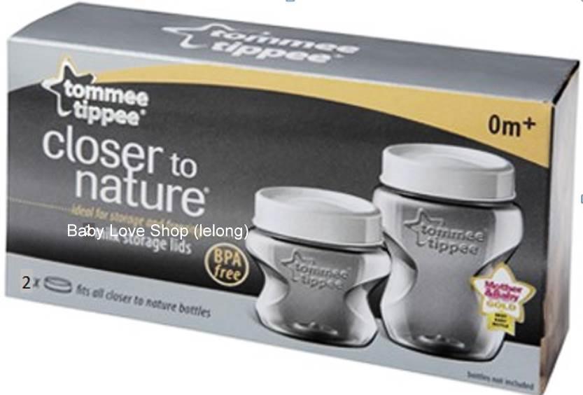 Tommee Tip Milk Storage Lids 2 Pcs