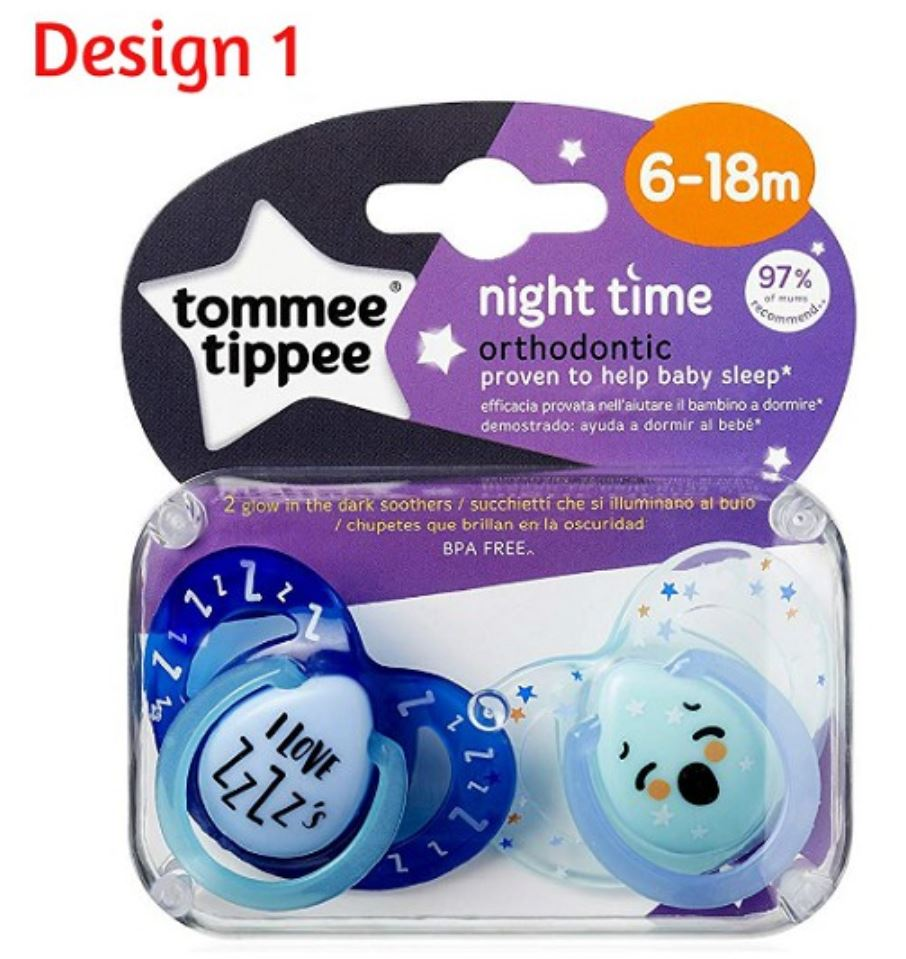 Tommee Tippee Night Time Soother 6 - 18 Months ( 2 Pcs )