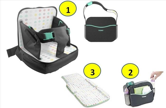 Tomy Freestyle 3 In 1 Baby Comfy Travel High Chair Booster Seat