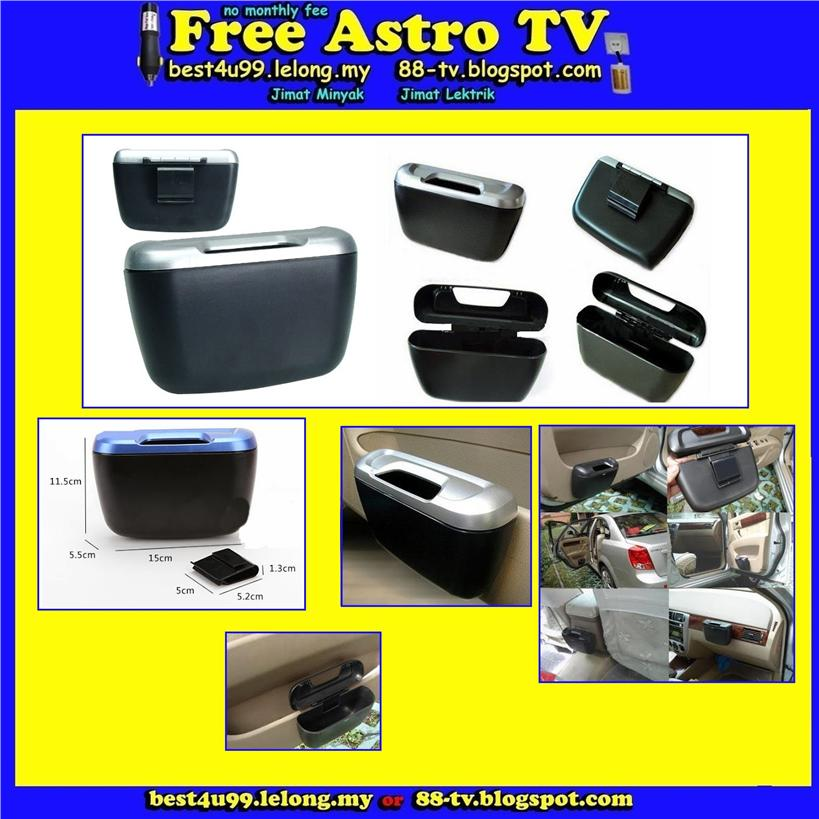 Tong sampah Car trash Dust Bin Garbage Rubbish Storage Box Case Holder
