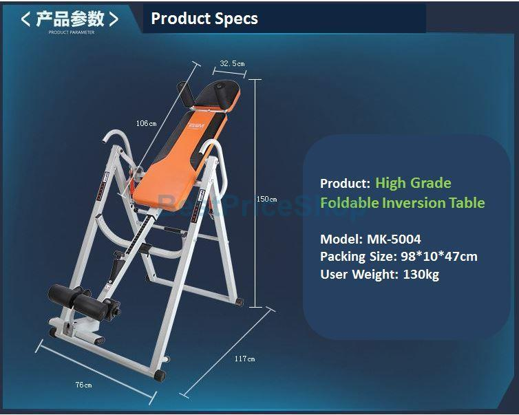 Top Grade Foldable Inversion Table MK-5004 Relieve Stress & Back Pain