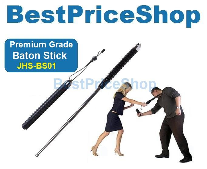 Top Grade Full Steel Self Defence Emergency Baton Stick Security 66cm