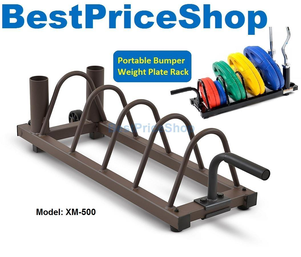 Top Grade Portable Weight Plate Barbell Bar Holder Rack Gym Dumbbell