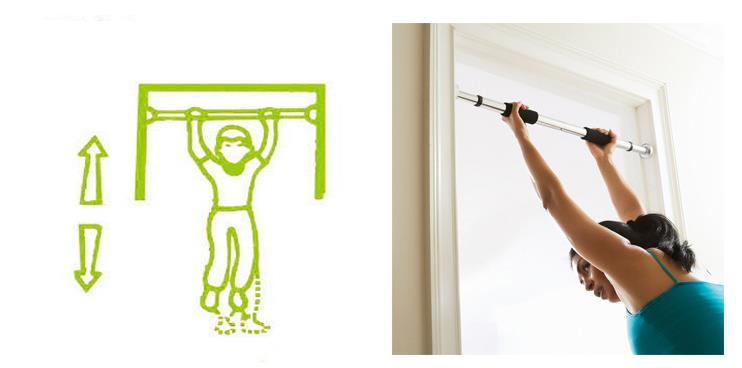 Top Grade Pull Up Door Gym Chin Up Bar Doorway Exercise Fitness