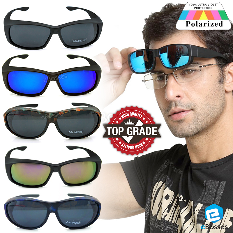dac995073c TOP GRADE UV Protection FitOver Overlap Polarized Sunglasses Unisex. ‹ ›