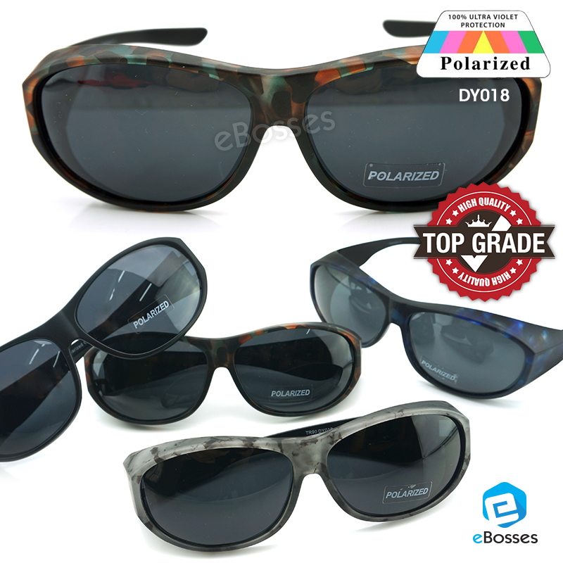 6cb2edc3e40 TOP GRADE UV Protection FitOver Overlap Polarized Sunglasses Unisex