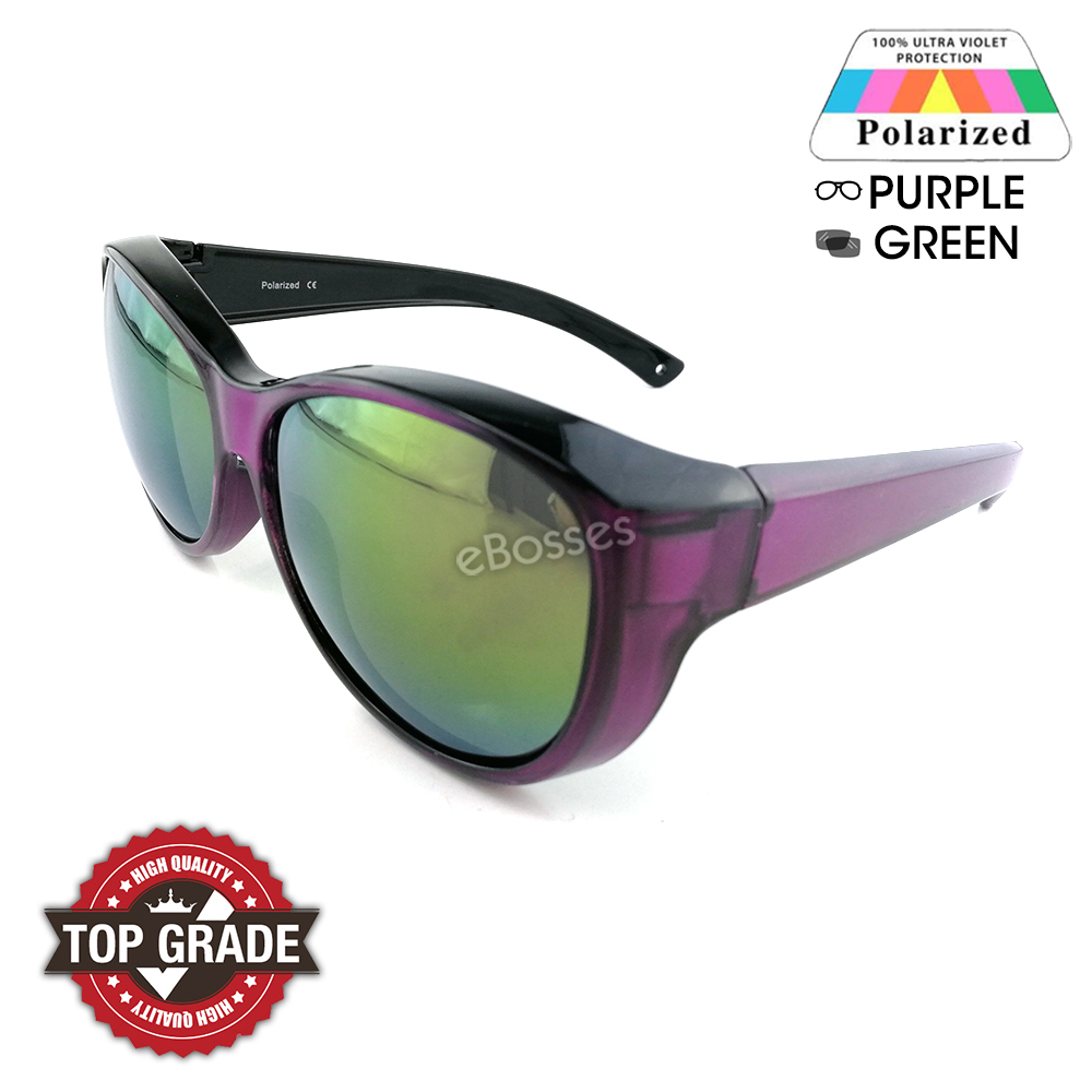 Top Grade UV Protection Fitover Overlap Polarized Sunglasses Women da88036753