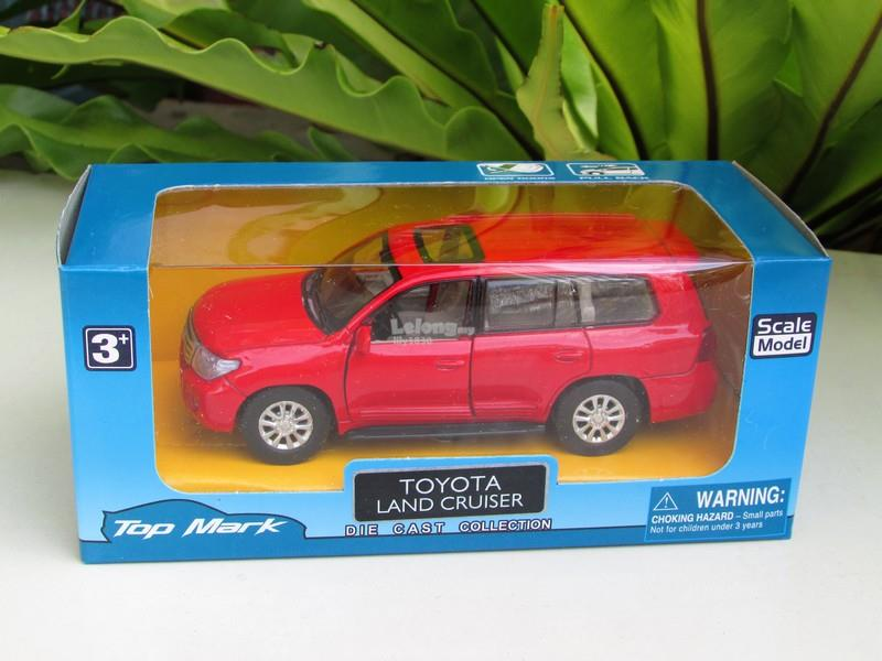 Top Mark (5') 1/34 Diecast Car 2013 Toyota Land Cruiser (RED)