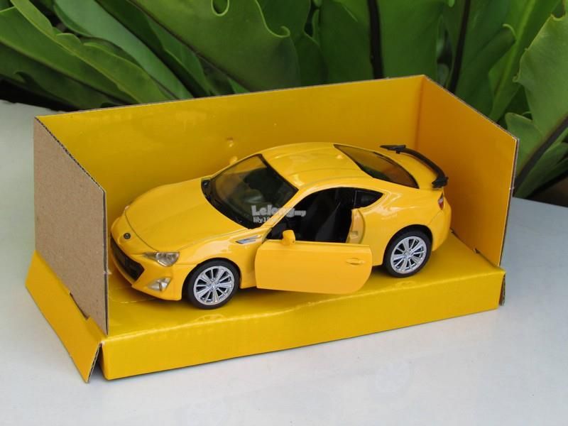 Top Mark (5') 1/39 Diecast Car Subaru BRZ (Yellow)