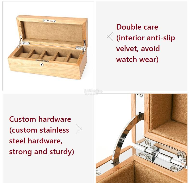 Top Quality Oak Wooden Watch Box, Watches Collection Boxes with Lock