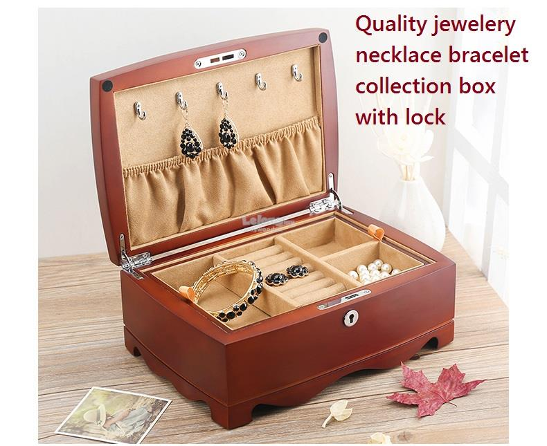 Top Quality Wooden Jewelry Storage Boxes Jewellery Box With Lock