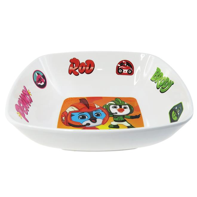 TOP WING MELAMINE SQUARE BOWL (6-INCH)