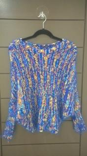Tops For Ladies Blossom Blue Dress Sweater Style