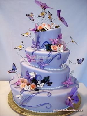 Topsy Turvy Wedding Cake Tin Set 4pcs