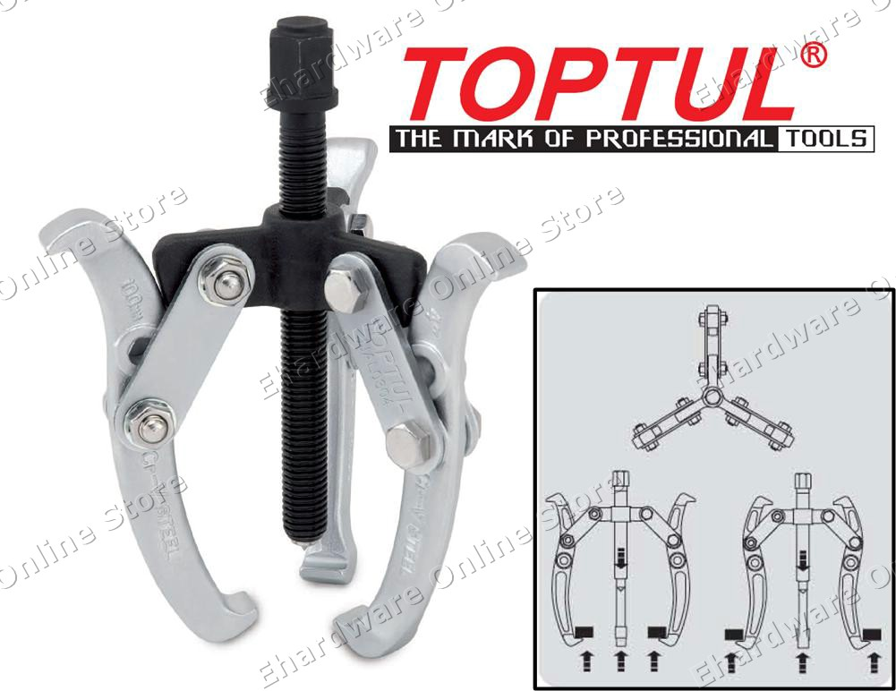TOPTUL 3-JAW GEAR PULLER (JJAL03) (OPEN STOCK)